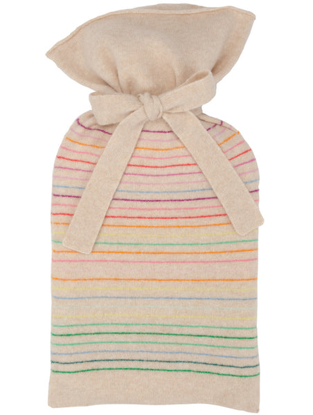 Rainbow Stripe Oatmeal Hot Water Bottle