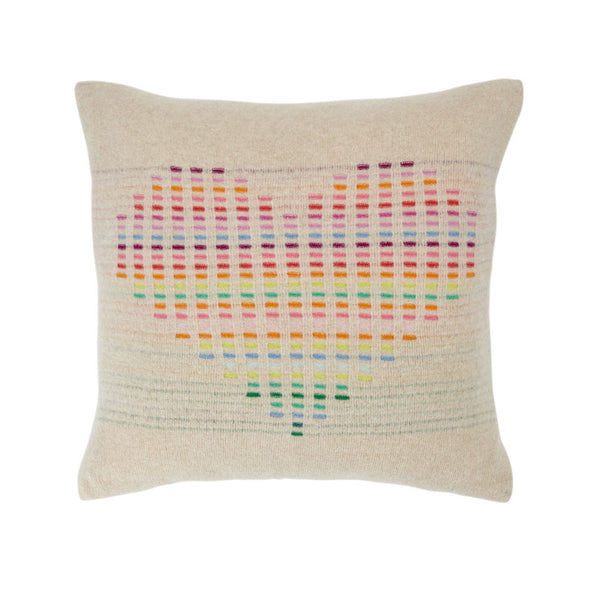 Rainbow Cushion Oatmeal Heart