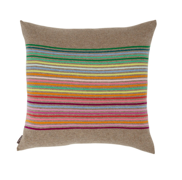 Rainbow Cushion Dark Natural