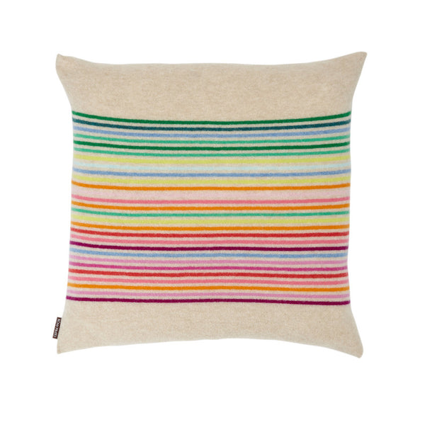 Rainbow Cushion Oatmeal