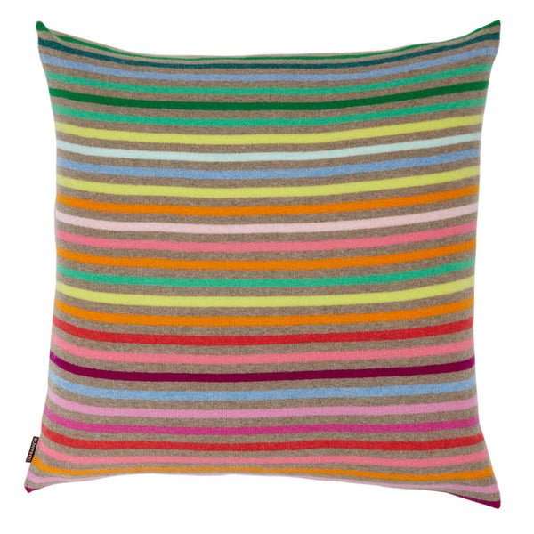 Rainbow Cushion Dark Natural Large
