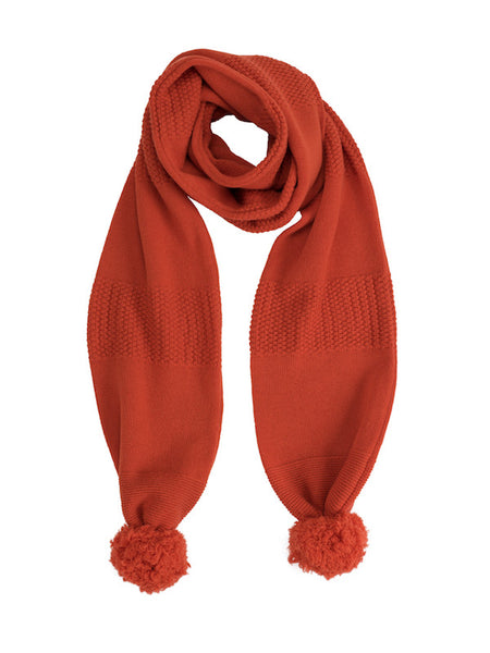 Lamp Orange Pom Pom Scarf