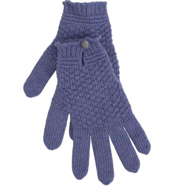 Mauve Driving Glove With Contrast Button