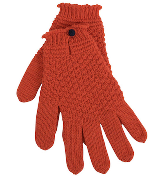 Lamp Orange Driving Glove With Contrast Button