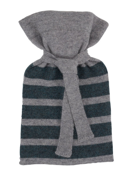 Flannel Grey Cashmere Mini Hot Water Bottle
