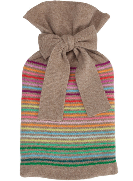 Rainbow Dark Natural Textured Hot Water Bottle
