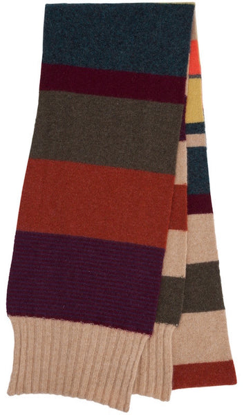 Mulberry Striped Skinny Scarf