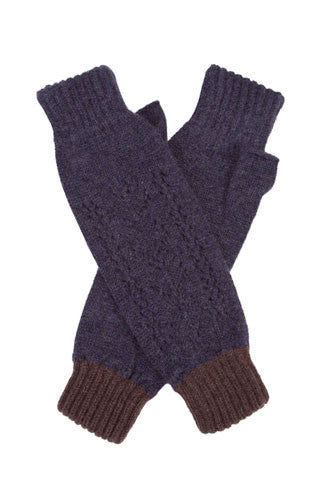 Dark Star Cashmere Lace Wrist Warmers