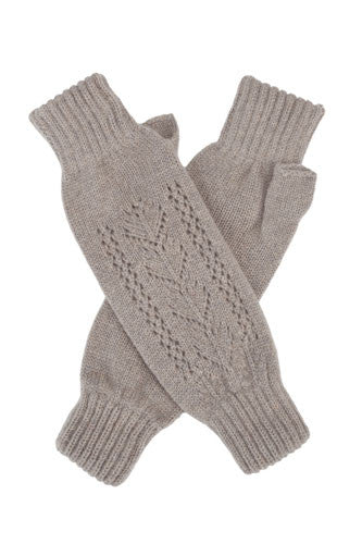 Cloud Cashmere Lace Wrist Warmers