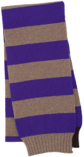 Ultra Violet & Dark Natural Skinny Scarf