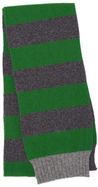 Kelly Green & Derby Grey Skinny Scarf