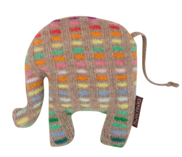 Rainbow Lavender Ernie Elephant Dark Natural Check