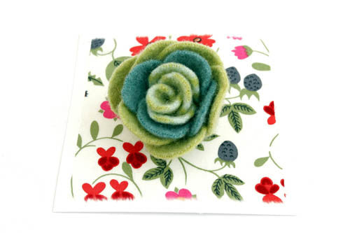 Tea Tree Green & Teal Rose Corsage