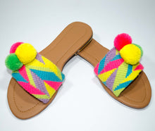 Load image into Gallery viewer, Pom Pom Sandals Carambola