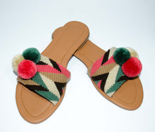 Load image into Gallery viewer, Pom Pom Sandals Guayaba