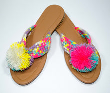 Load image into Gallery viewer, Pom Pom Sandals Piña