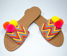 Load image into Gallery viewer, Pom Pom Sandals Zapote