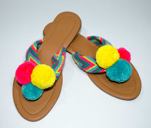 Pom Pom Sandals Patilla