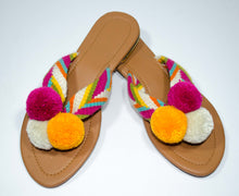 Load image into Gallery viewer, Pom Pom Sandals Mandarina