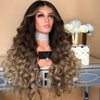 GRADUAL BLACK AND BROWN SYNTHETIC LACE FRONT WIG