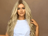 Gold Long Synthetic Wig