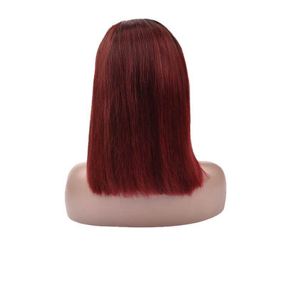 Red Ombre Color Bob Wigs For Black Women 100 Human Hair