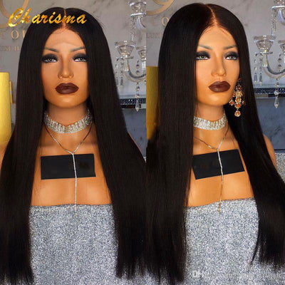 Heat Resistant Fiber Hair Silky Synthetic Lace Front Wigs For Women