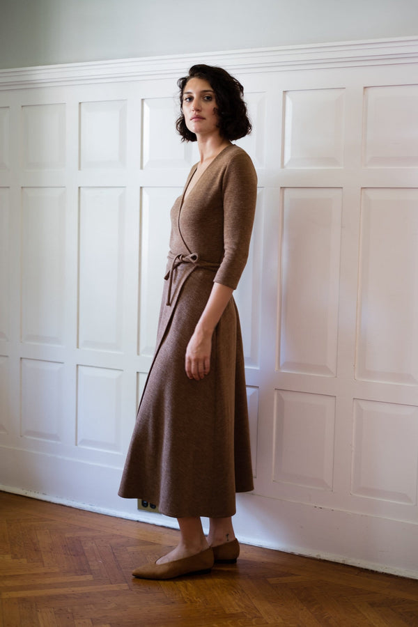 Wrap Dress in Japanese Knit Jersey