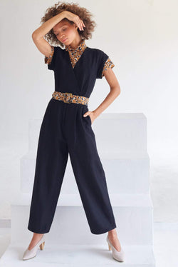 Surplice Everyday Jumpsuit (Linen)