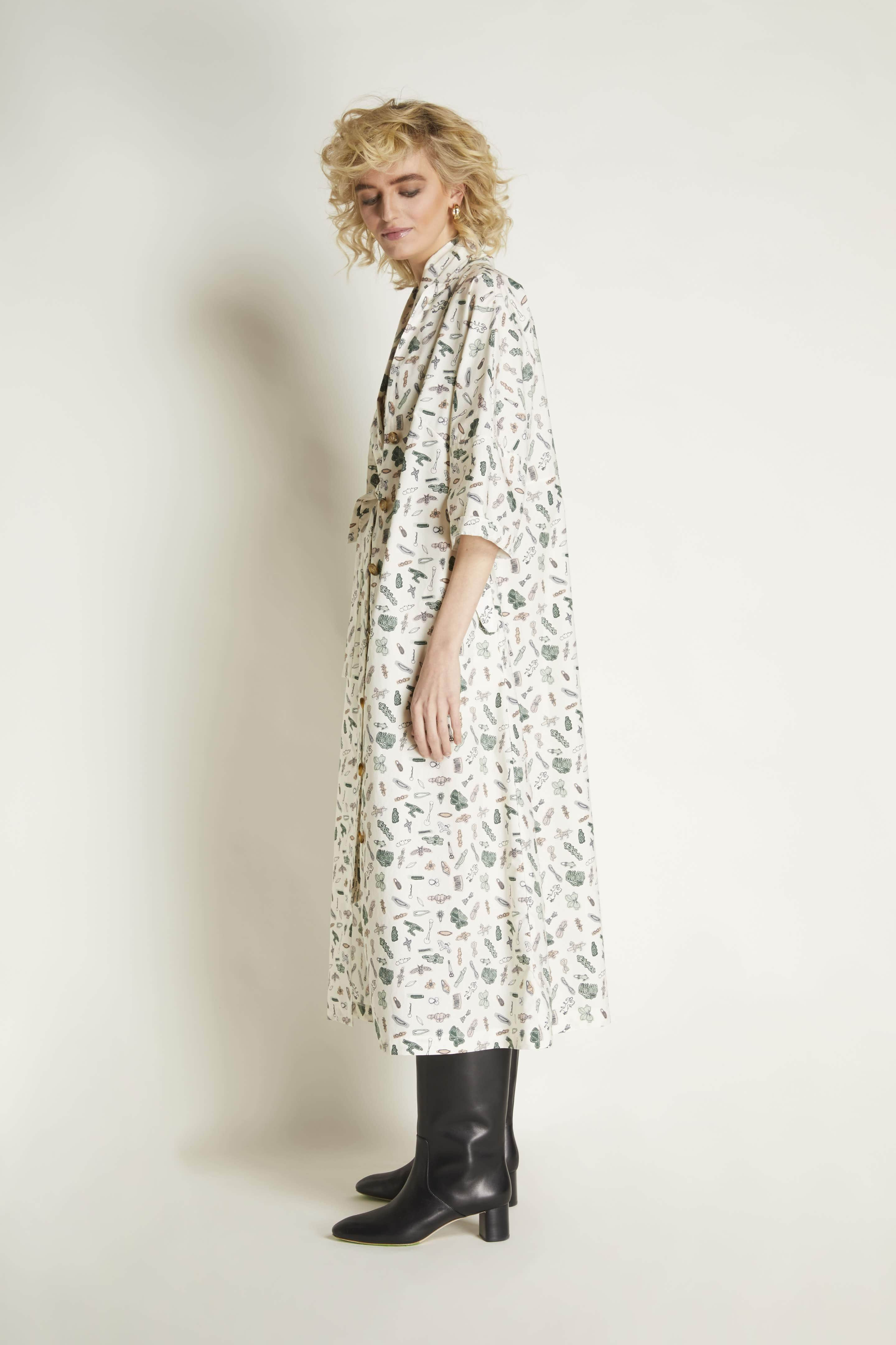 Robe Dress: Cotton Print