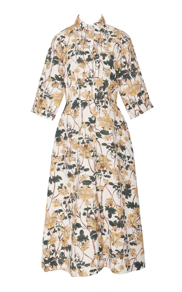 Raglan Sleeve Shirt Dress (Print)