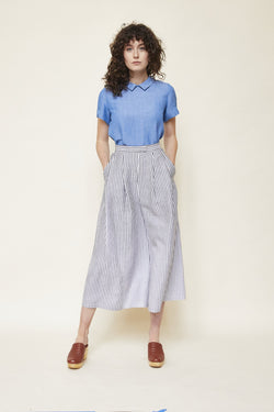 Pleated Wide Leg Trouser