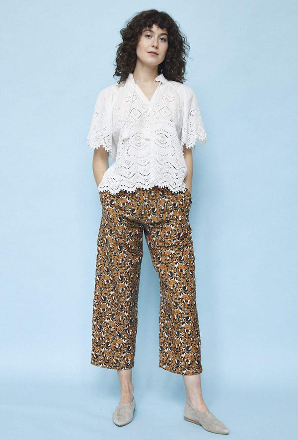 Pleated Trouser in Animal Print