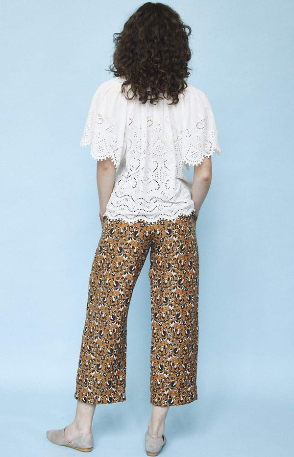 Pleated Cuffed Trouser (Print)