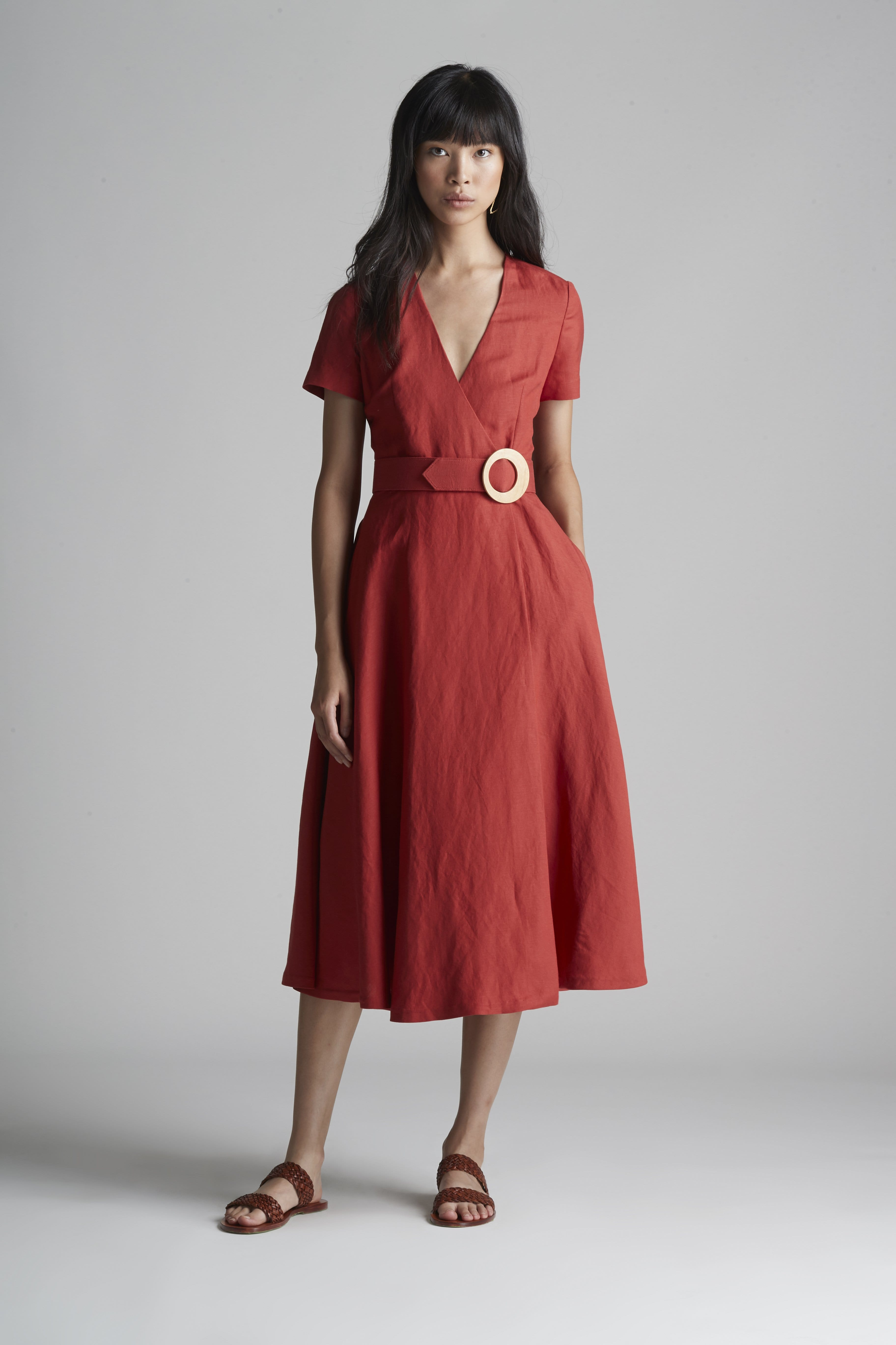Wrap Dress With Cap Sleeves