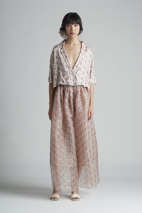Double Layer Pant in Silk Organza