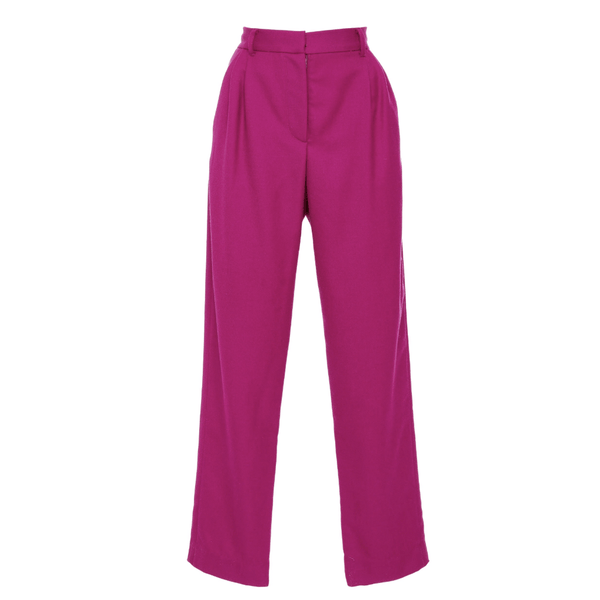 Pleated Trouser in Wool Twill