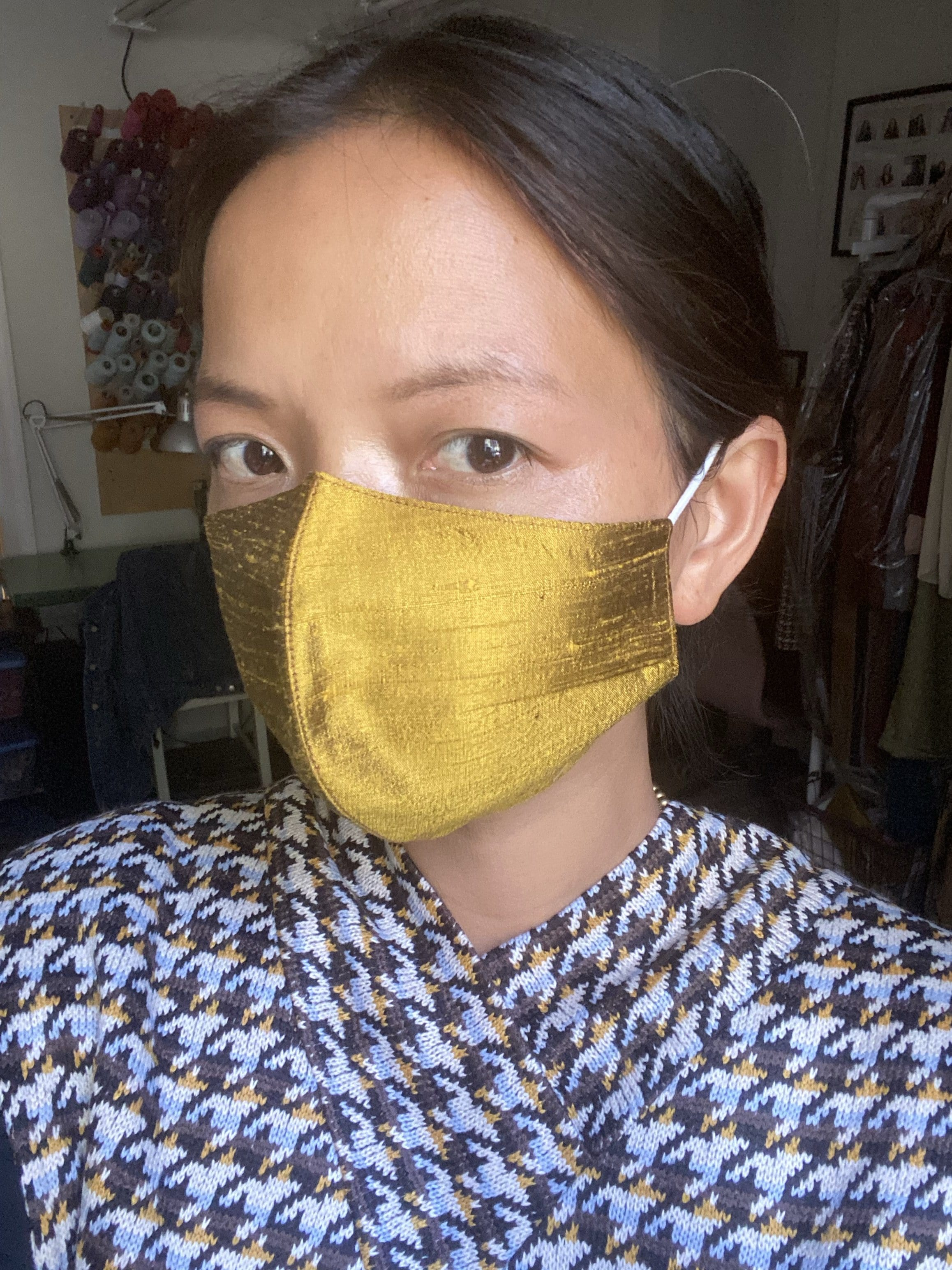 Silk Fabric Face Masks