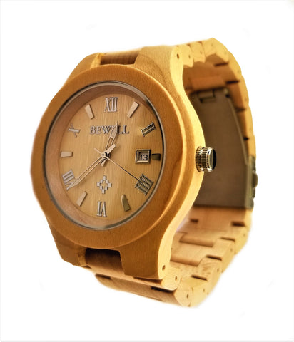 Light Colored All Maple Wood Watch