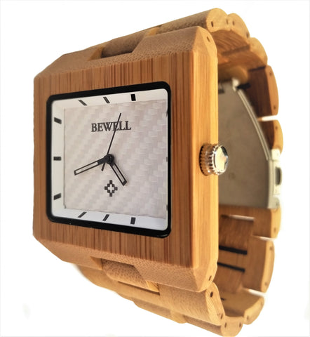 All Bamboo Square Watch