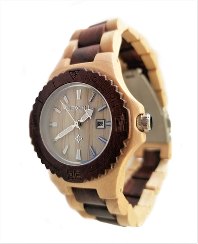 Women's Maple Wood Watch with Red Sandalwood Inlay