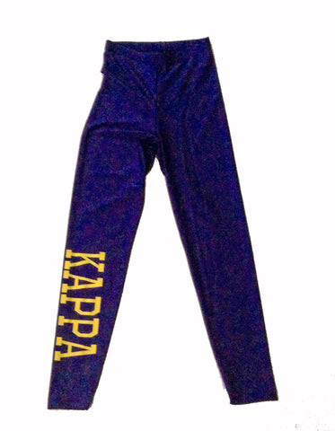 Kappa Spandex - Navy/Maize