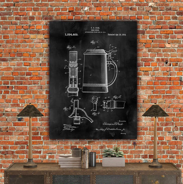 Beer Stein Art on Canvas - Canvas Wall Art - HolyCowCanvas