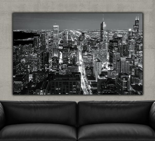 Chicago Skyline - Magnificent Mile - Canvas Wall Art - HolyCowCanvas