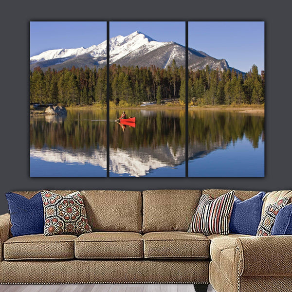 Tranquil Colorado Lake Canvas Large Wall Art - Canvas Wall Art - HolyCowCanvas