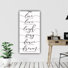 Live Love Laugh Farmhouse Wall Art on Canvas