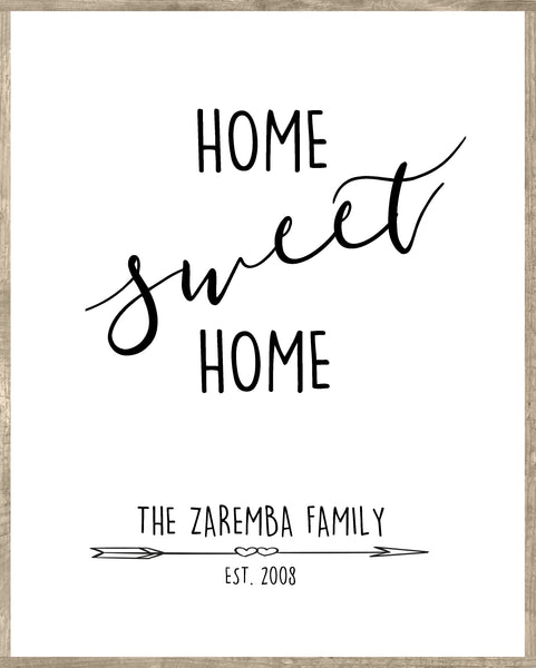 Home Sweet Home Wall Art on Canvas