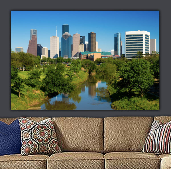 Houston Skyline Canvas Wall Art - Canvas Wall Art - HolyCowCanvas