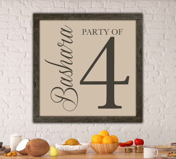 Family Party of - Kitchen Wall Art