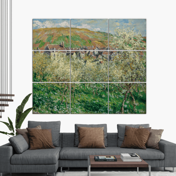 Monet Plum Trees in Blossom on Canvas - Canvas Wall Art - HolyCowCanvas